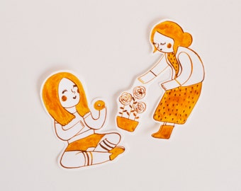 Stickers pack x 2 - small bridesmaids