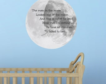 The Man In The Moon Wall Sticker / Nursery Decal