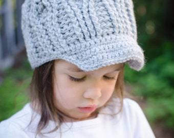Handmade Crochet Newsboy Hat