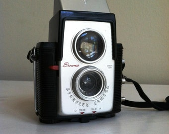 Vintage Kodak Brownie Starflex Camera with Dakon Lens, Vintage Brownie Camera, 1950's,  Collectible Camera