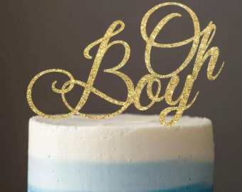 Cake Topper, Baby Shower Cake Topper, Oh Boy Cake Topper, Baby Boy Cake