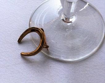 Edwardian gold filled Horseshoe brooche, edwardian jewels, antique jewels, amulet