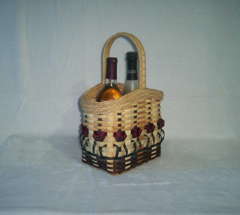 Basket Weaving Kits : Basket weaving kit wine with flowers