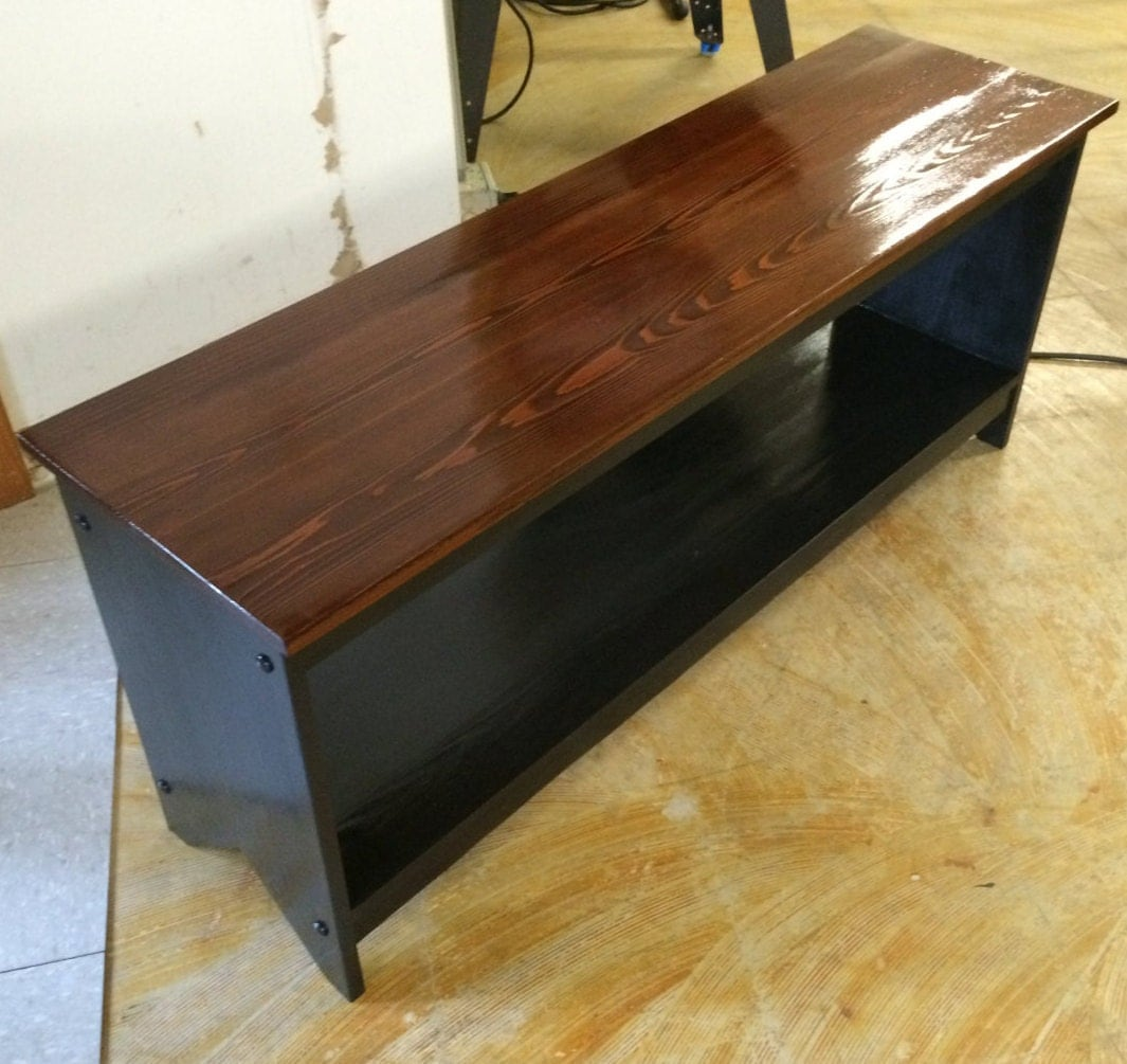 Reclaimed Solid Wood Sideboard Storage Bench: Storage Bench Solid Wood Reclaimed Barn Board Wood