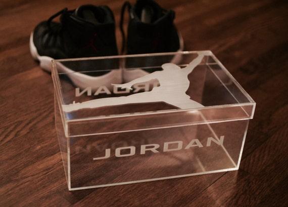 Acrylic Shoe Boxes : Jumpman clear acrylic shoe box