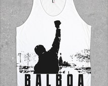 Rocky Balboa motivational Tank Top, All-over print Rocky Tanks, Fitness tank top, Cool Graphic tops