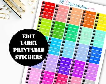 Youtube Edit Printable Planner Stickers // Erin Condren Life Planner / Kikki / Plum Paper Planner / Midori Insert / Planner Insert 00142
