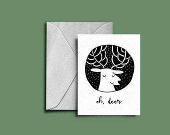 Oh, Deer | Greeting Card