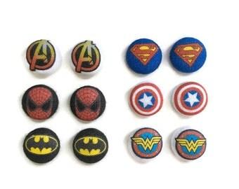 Marvel Earrings Avengers Earrings Superman Earrings Spiderman Earrings Captain America Earrings Batman Earrings Wonder Woman Earrings