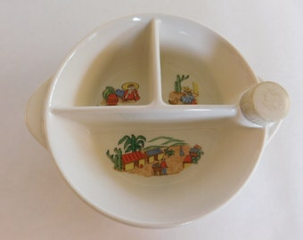 Baby Warming Dish Vintage Excello South of the Border