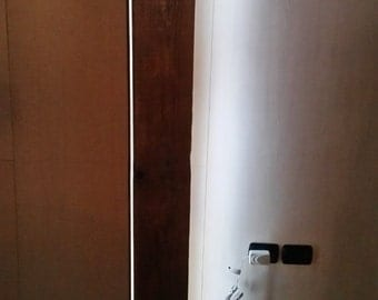 "Reclaimed wood floor lamp led line ""Magùt"" metal base, industrial style, modern floor lamp, led lighting"