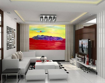 Large Abstract Art, ABSTRACT PAINTING, Canvas Art Painting, Original Abstract Landscape, Modern Art, Bright Art Contemporary Colors Painting