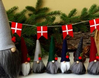 Micro MINI Gnomes 3 or 6, Miniature Gnomes, Holiday Decor, Nordic, Christmas Decor, Christmas Gift, Holiday Decor, Gifts for Gnome Lovers