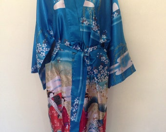 1970's Asian Polyester Robe