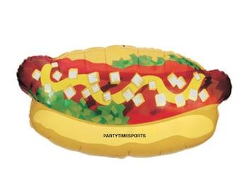 "Hot Dog Balloon 32"" Balloon..... Birthday Party.......Cookouts.......Summer Fun....Beach Party.....BBQ's......."
