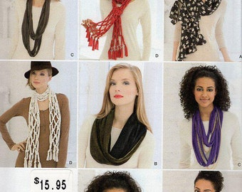 FREE US SHIP Simplicity 1790 Neck Scarves Fleece Knit Silk Eternity Scarf Fleece Sewing Pattern New Condition New Uncut