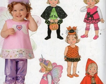 Free Us Ship Simplicity 0865 Sewing Pattern Toddler Baby Costume Halloween Fairy Unicorn Leggings Bucket Size 6 mo 1 2 3 4 Wings Wand Cape