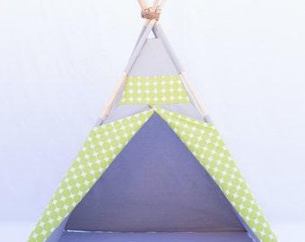 High Quality Lime Green Cirlcle Grey Teepee