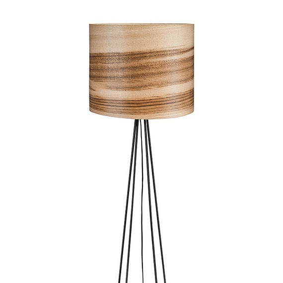 Wooden Floor Lamp Natural Wood Lamps Veneer By Sponndesign