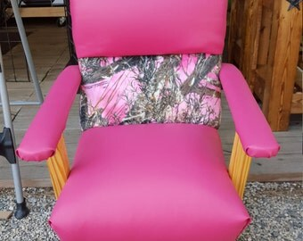 Pink Camo child rocking chair
