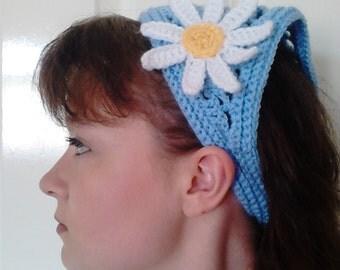 Crochet Kerchief Handmade Bandana Hairband One Size Accessories