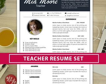 teaching resume etsy. Resume Example. Resume CV Cover Letter