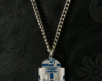 Silver Plated Star Wars R2-D2 Necklace