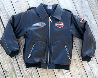 Black Harley Davidson Jacket, Bomber Jacket, King of the Road Patch