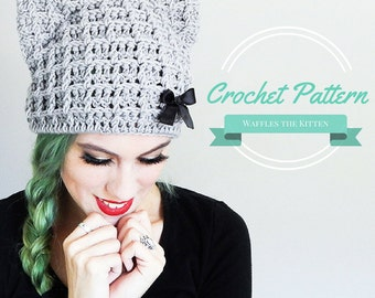 Crochet Cat Hat Pattern Cat Beanie Crochet Pattern