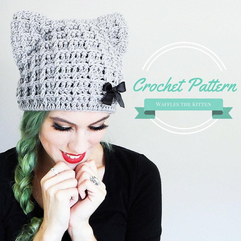 Crochet Beanie Cat Ears Pattern