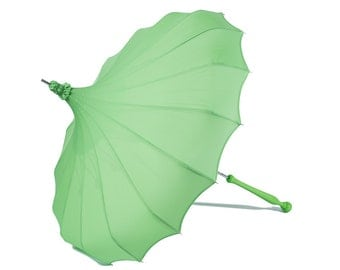 Fresh Green Pagoda by Bella Umbrella - Sun, Rain and Wind Proof