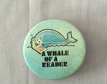 Whale of a Reader Pin