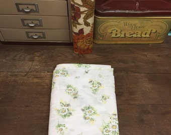 Vintage Floral Twin Flat Sheet Percale