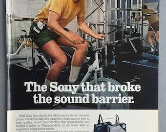 1981 Sony Walkman Print Ad