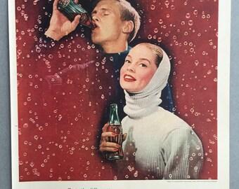 1956 Coca-Cola Print Ad - Coke