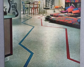 1967 Kentile Floors Print Ad - 60s Styles - Flooring