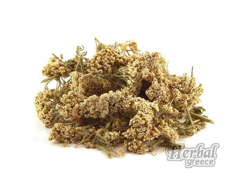Organic Yarrow, Dried Flowers, Greek 100g (3.5oz.)