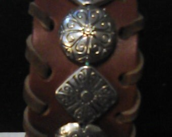 2 style beaded cuff bracelet.