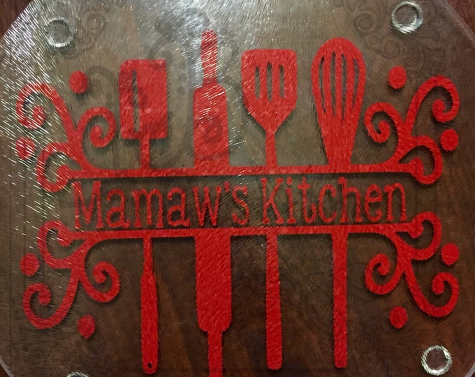 3 Off Coupon On Mamaw S Kitchen Cutting Board Hot Plate Nana S Memaw S Momma S Granny S Mimi S Kitchen Gifts For Her Kitchen Decor Spoon Rest By Leftbraincreations3 Etsy Coupon Codes