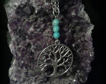 Necklace Tree of the life with Turquoise stone