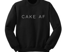 Cake AF, 5 Seconds of Summer, Calum Hood, Luke Hemmings, Band Sweatshirt, Trendy Tumblr Shirt Teen Girl Gift, Ban Fan Shirts, One Direction