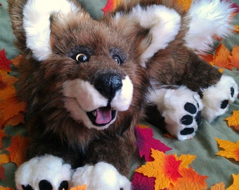 SOLD Dakota the Wolf Pup Poseable Art Doll (AVAILABLE made to order)