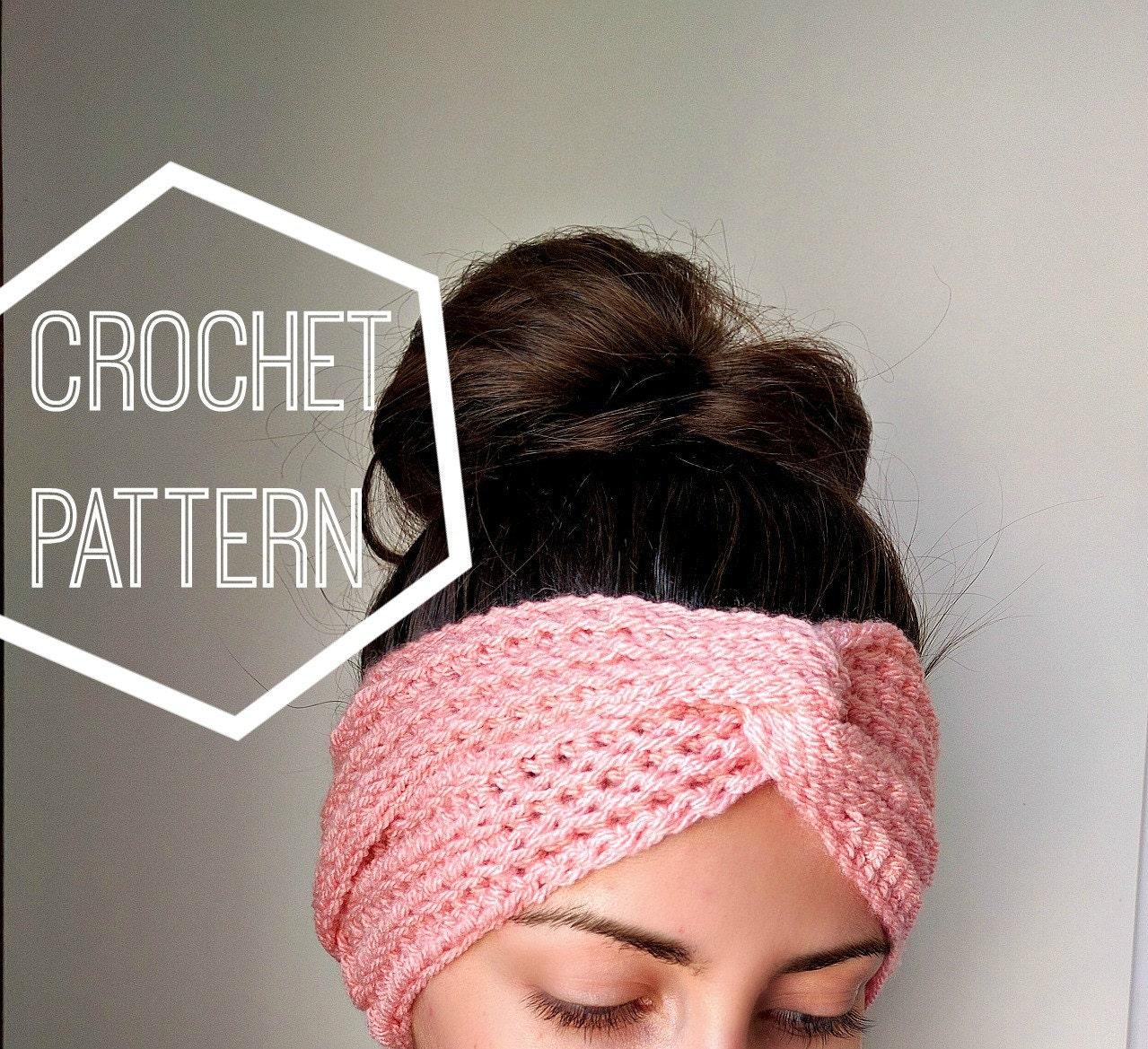 Boho crochet turban ear warmer pattern womens crochet headband this is a digital file bankloansurffo Images