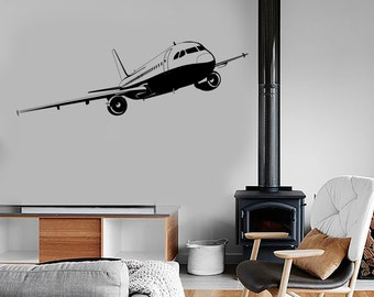 Wall Vinyl Decal Airplane Cool Decor For Living Room 1682dz