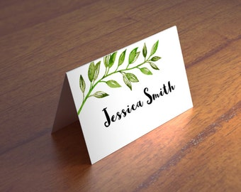 fold over wedding place card template kraft escort card. Black Bedroom Furniture Sets. Home Design Ideas