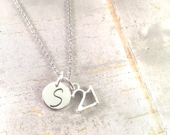 21st birthday necklace, 21 Charm Necklace, 21 Pendant, 21st birthday, 21 Necklace,  21st Birthday Jewelry, Birthday Gift for her