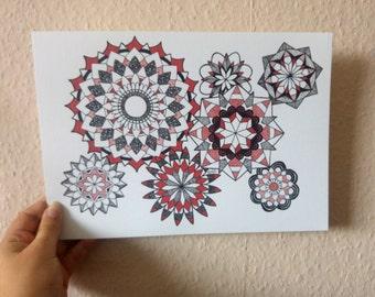 Zen Circles IV, mandala art print