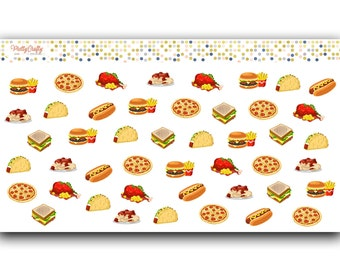 Meal etsy - Stickers rouge cuisine ...