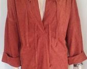 Fringe Dress // Faux Suede Dress // Boho Dress // Hippie Dress // Kaftan // Tunic Dress // 70's Dress // Southwestern Dress //  Large XL Vtg