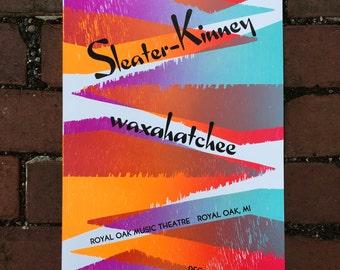 Sleater-Kinney/Waxahatchee Gig Poster